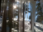 Icicles from the Back Bedroom Window as the sun moves West.